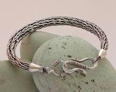 Viking Knit Bracelet. Sterling Silver Viking Weave bracelet.