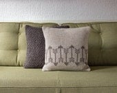 Rustic Natural Decorative Knitted Cushion / Pillow Cover /// Set of Two