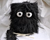 Children's Drum - Shaggy Black Marching Puppet Drum For Kids 'BOOM BUDDY'