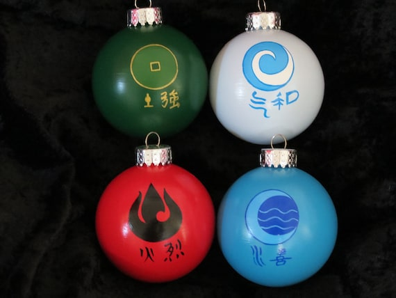 avatar the last airbender christmas ornaments, the legend of korra