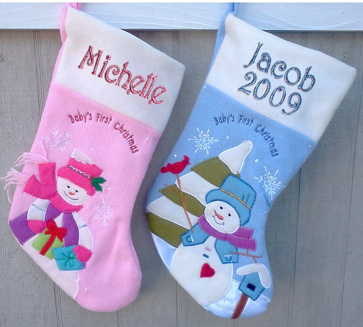 Baby s first christmas christmas stocking by eugenie2 on etsy