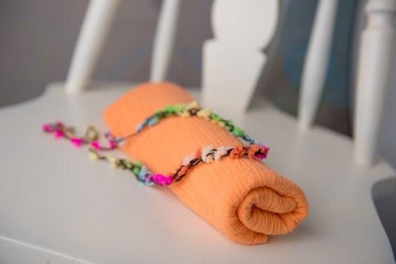 orange cream halo and fabric wrap newborn 0-3 photo prop READY TO SHIP