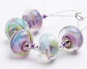 Floribunda Swirl - Handmade Lampwork Glass Beads by Sarah Downton