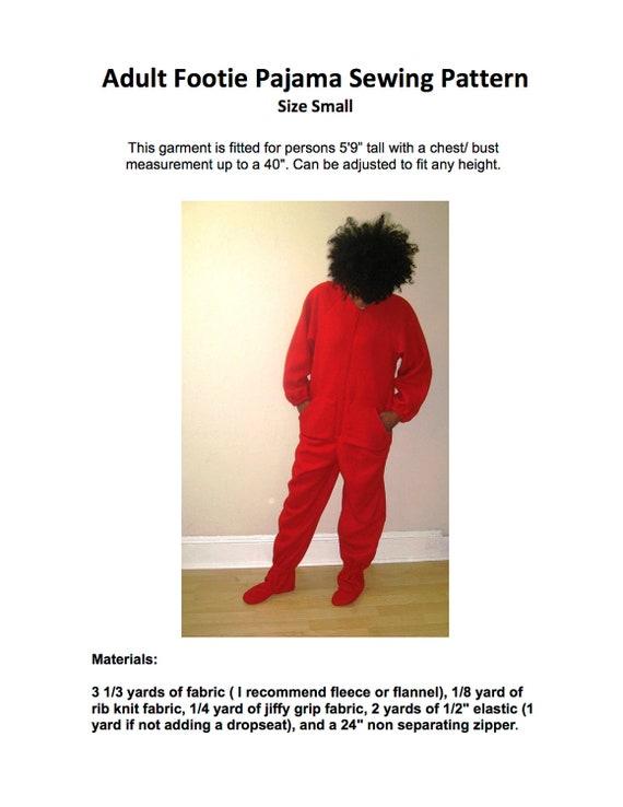 Adult Footie Pajamas Pattern 17
