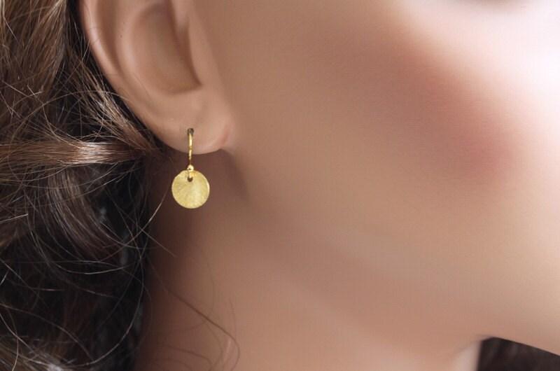 gold dot earrings simple earrings inspired