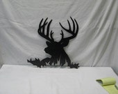 Buck 012 Deer Head Metal Wildlife Wall Art Silhouette