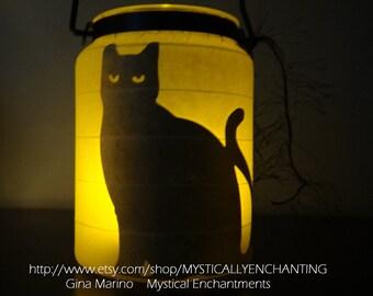 Halloween Lantern BLACK cat Series