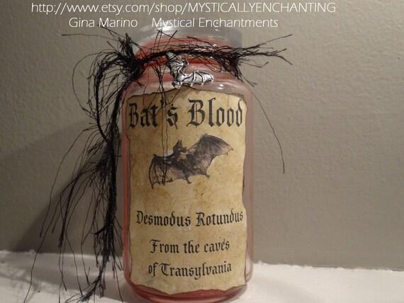 Vampire Bat BLOOD Bottle