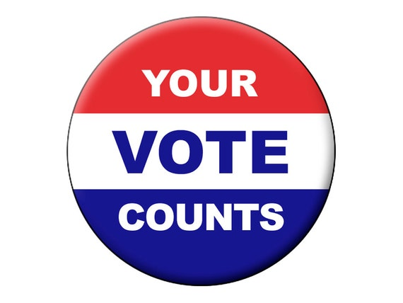 Your Vote Counts Pin P...