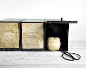 RESERVED - Vintage Metal Pharmacy Prescription Box / Industrial Decor