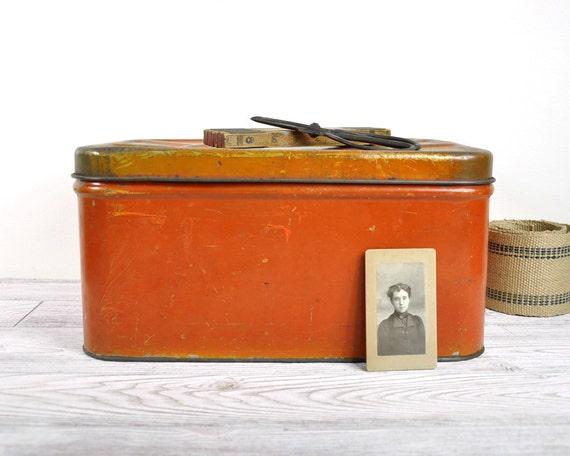 Vintage Large Tin Storage Box