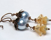 SPECIAL PRICE Brandy and Bluebells Floral Earrings - merryalchemy