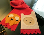 Fleece Adventure Time Scarf with Finn and Jake