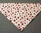 Hearts Paws and Bones Handmade Dog Bandana Valentines or Every Day Wear