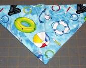 Dog Bandana Summer, pool, float, ball, neckerchief