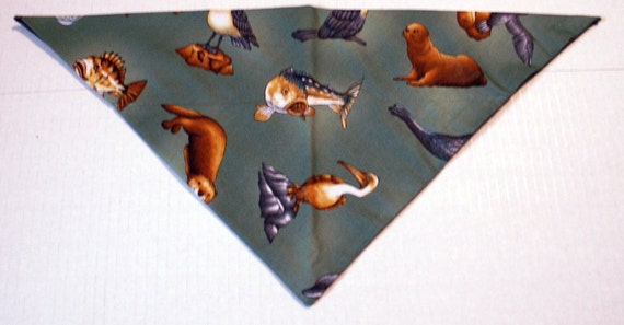 Monteray Bay Dog Bandana Summer, Beach, Nautical