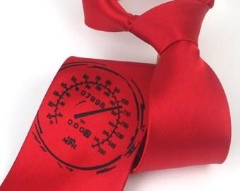 Men's Tie - Speedometer - Silkscreened Microfiber Necktie - Gift Wrapped