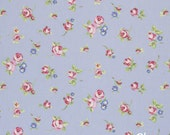 Clarke and Clarke Rosebud printed Cotton fabric - by the meter (100cm)
