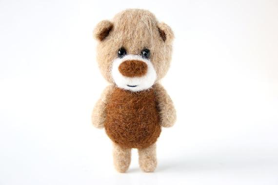 Brown and beige pocket bear 29