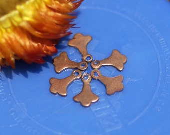 Copper Finiale Dangles with Hole for Enameling Stamping Texturing Soldering Blanks