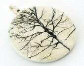 Pendant, Branches, Handmade Decoupaged, FREE SHIPPINGFree Shipping, Retropage, Stocking Stuffer, Unique Gift, Handmade Necklace