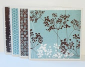 Ceramic Tile Coasters - Brown and Blue Mix