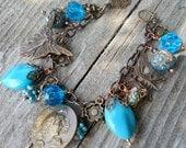 Fairy Garden Art Nouveau Charm Bracelet