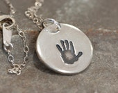 Personalized Handprint Necklace - Baby Keepsake Jewelry - Handprint Necklace for New Mothers - Gifts for New Moms - Newborn Baby Gift