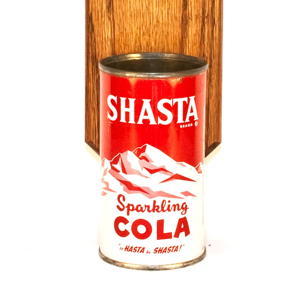Shasta Wall Mounted Bottle Opener With Vintage Soda Pop Can