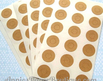 144 Kraft Circle Reinforcements - Labels, Stickers - Hole Reinforcements