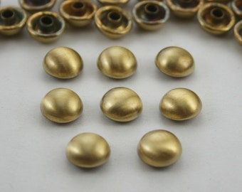50 pcs Brush Brass Dome Mushroom Rivets Studs Double Cap Decorations Findings 10 mm. (2 Sides) Do BB105 45 RV WY