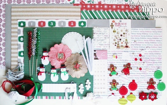 A Modern Christmas Kit - Scrapbook and Crafting Kit - LIMITED Edition