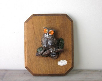 Owl Plaque Wall Hanging