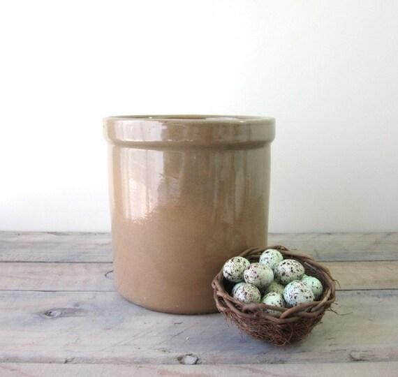 Old Brown Glazed Pottery Crock