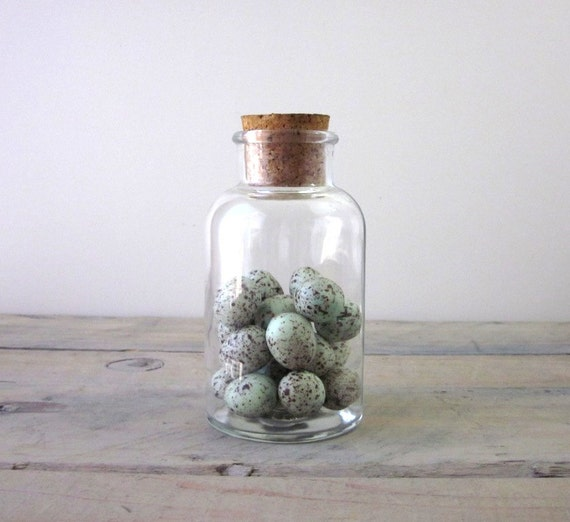 glass canister apothecary jar with cork lid by 22bayroad on etsy. Black Bedroom Furniture Sets. Home Design Ideas