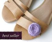 Rosette Shoe Clip Single Bellflower Purple Silk Shoe Clip Picnic BBQ Birthday Gift French Bluette Clip Made to Order Best Seller 1.5 inches