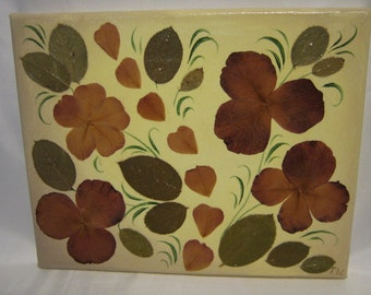 Pressed Flower Painting - FREE SHIPPING !