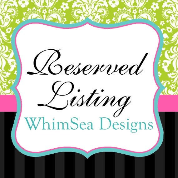 RESERVED LISTING - Custom Bridal Order for Jacqueline
