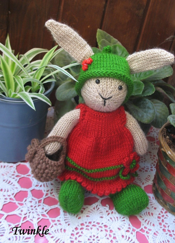 Twinkle      Handmade knitted bunny girl straight from fairyland...enchanting and most adorable
