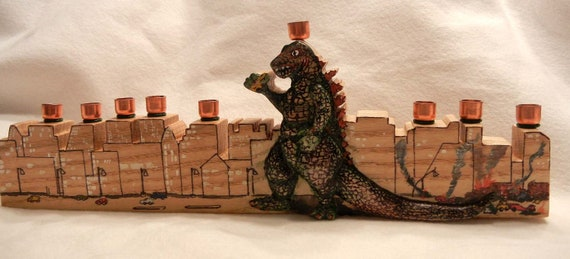 Godzilla the Menorah