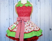 Strawberry Shortcake BabyDoll Apron by Dots Diner -- in stock