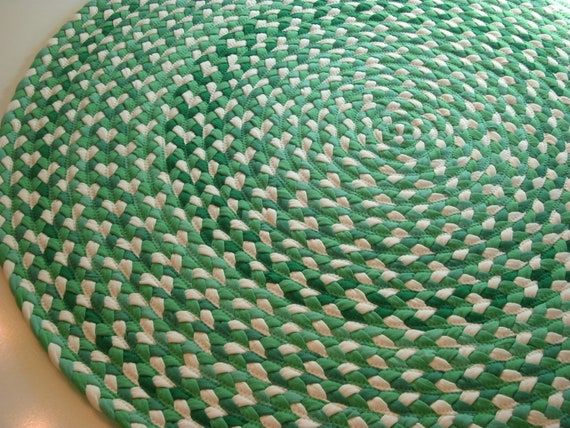 """READY TO SHIP 41"""" Kelly green and grass green with, natural colored usa organic cotton"""