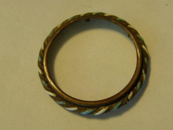 Antique Victorian Brass and enamel finding re-purpose