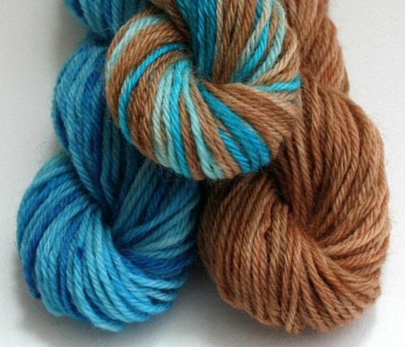 Knitting Goddess Mini Skeins : Sock yarn mini skeins hand dyed knitting wool blue and