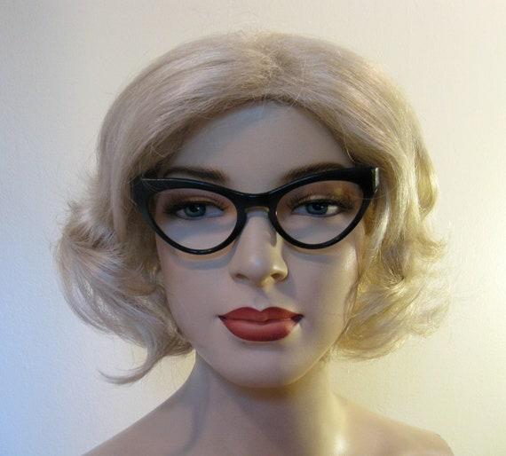 Vintage 50s Cateye Zyloware Eyeglasses Frames, Black