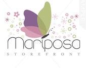 Logo Design, premade logo design, butterfly logo design, photography logo, logos, business logo, logo