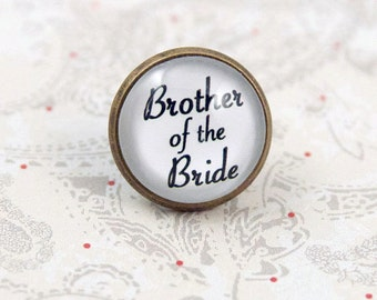 Brother of the Bride Lapel Pin, Tie Pin, Boutonniere Tie Tack, Brooch Pin