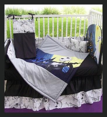 New Nightmare Before Christmas Jack Baby Crib Bedding Set