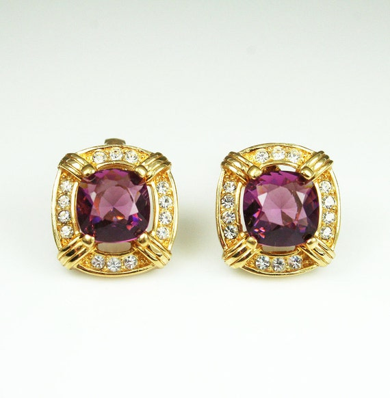 Vintage Christian Dior Rhinestone Earrings