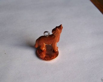 Twilight Inspired Carved Wood Wolf - Charm